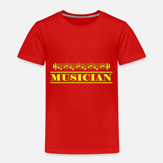 Tone Baby Clothing - musician yellow - Toddler Premium T-Shirt red