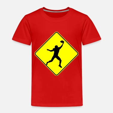 Wide Receiver Football Wide Receiver Crossing - Toddler Premium T-Shirt
