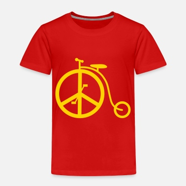 1peaceaday Classic Peace Bike - Toddler Premium T-Shirt