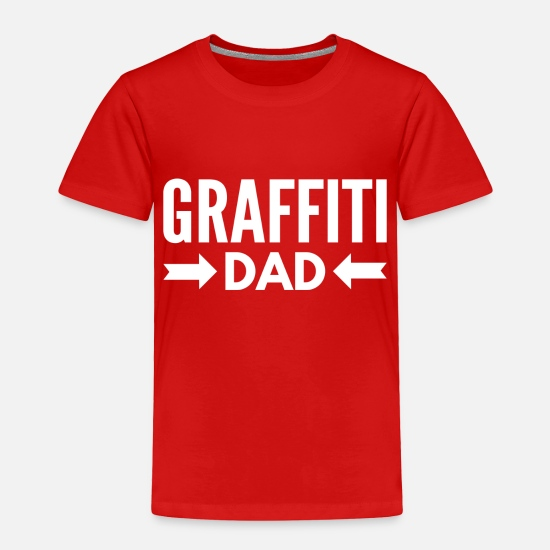 Birthday Baby Clothing - Graffiti Dad - Toddler Premium T-Shirt red