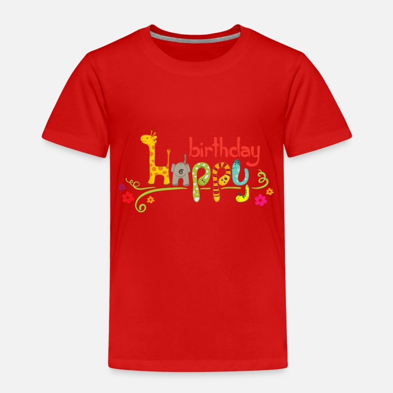 Cute Happy Birthday Kids PNG Clipart Toddler Premium T Shirt