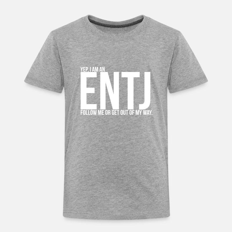 ENTJ Personality Toddler Premium T-Shirt - heather gray