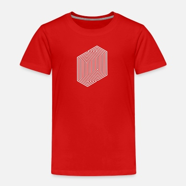 Optical Illusion Trippy Optical Illusion (Impossible Minimal B & W Lines) - Toddler Premium T-Shirt
