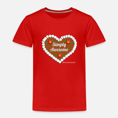Bavarian simply awesome ginger bread heart Oktoberfest gift - Toddler Premium T-Shirt