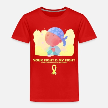 Childhood Childhood Cancer Awareness Gift fighter kid yellow - Toddler Premium T-Shirt