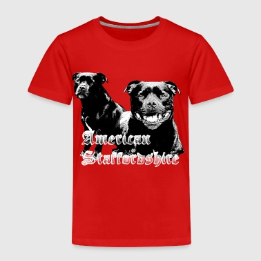 Staffordshire,Dog head, Dog face, Dog breed, dog - Toddler Premium T-Shirt
