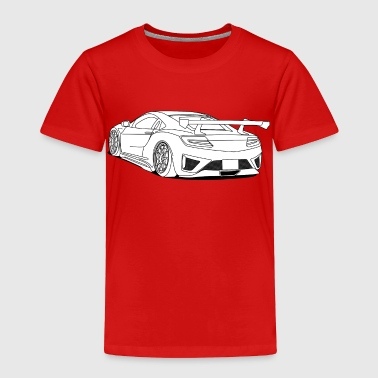 cool car white - Toddler Premium T-Shirt
