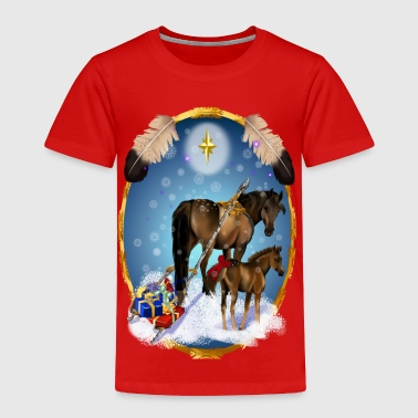 Christmas Mare and Colt - Toddler Premium T-Shirt