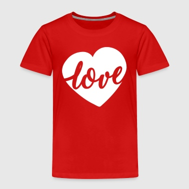 Maternity Love Script Heart Valentines Day - Toddler Premium T-Shirt