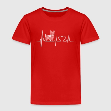 yorkie heartbeat shirt - Toddler Premium T-Shirt