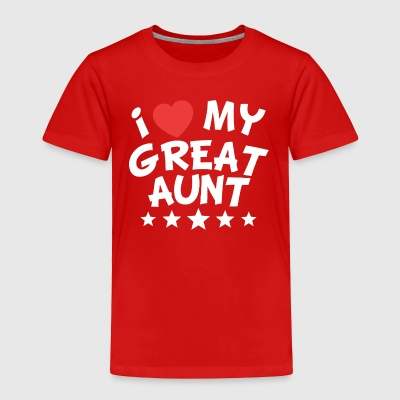I Heart My Great Aunt - Toddler Premium T-Shirt