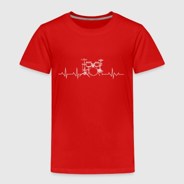 Drums heartbeat lover - Toddler Premium T-Shirt