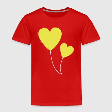 hearts balloons - Toddler Premium T-Shirt