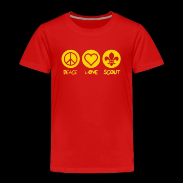 peace love scout - Toddler Premium T-Shirt