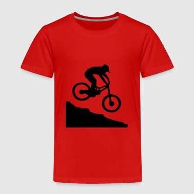 Downhill Mountain Biking - Toddler Premium T-Shirt