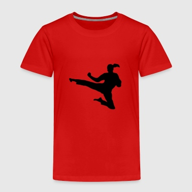 Martial Arts fighter - woman - Toddler Premium T-Shirt