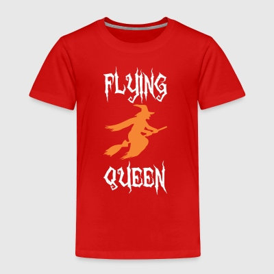 Flying Queen Halloween Broom Witch - Toddler Premium T-Shirt