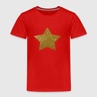 Gold Star Glitter Design - Toddler Premium T-Shirt