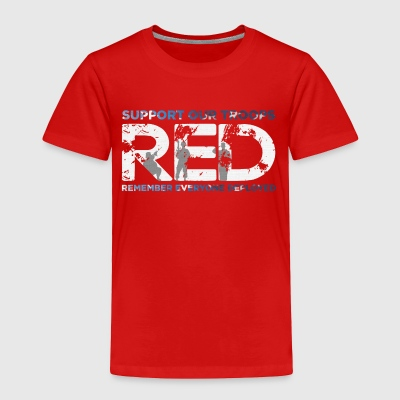 RED - Support Our Troops - Toddler Premium T-Shirt