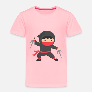 Ninja Little Ninja Kid with Sai - Toddler Premium T-Shirt