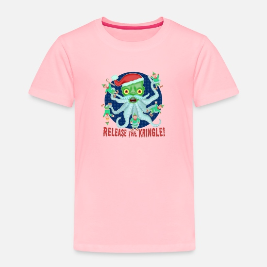 Christmas Carols Baby Clothing - Christmas cephalopod - Toddler Premium T-Shirt pink