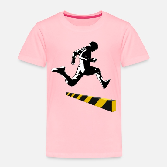 Mistake Baby Clothing - Leaping The Bounds of Caution - Toddler Premium T-Shirt pink