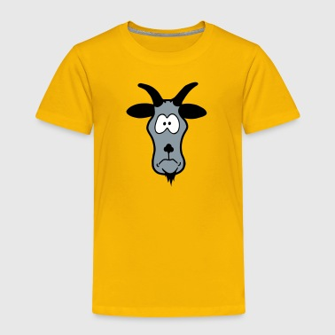 Animal Head: silly billy goat - Toddler Premium T-Shirt