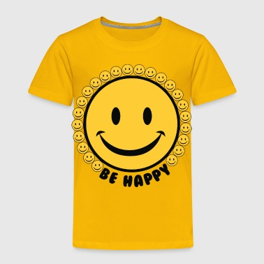 Emoticon Be Happy Smiley Faces - Toddler Premium T-Shirt
