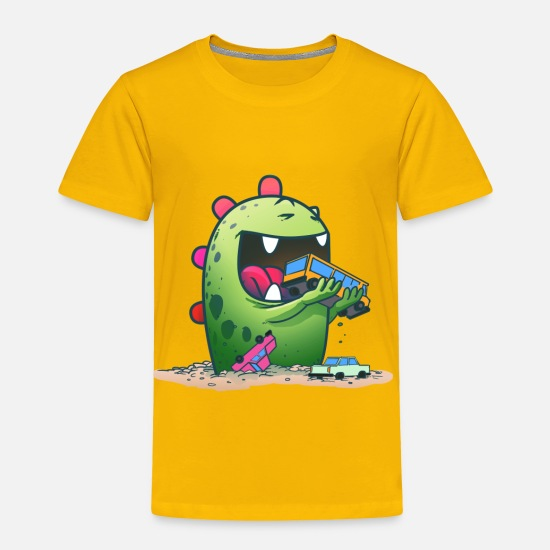 Monster Baby Clothing - Cute Monster - Toddler Premium T-Shirt sun yellow
