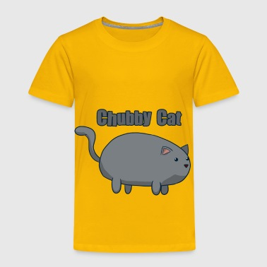 Grey Belly Chubby Cat Gray - Toddler Premium T-Shirt