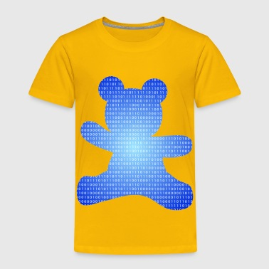 Code Blue teddy bear out of binary code - Toddler Premium T-Shirt