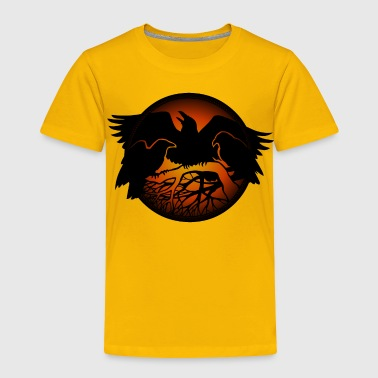Canadian Wildlife Raven Art Gifts Crow Raven Shirt Native Spirit  - Toddler Premium T-Shirt