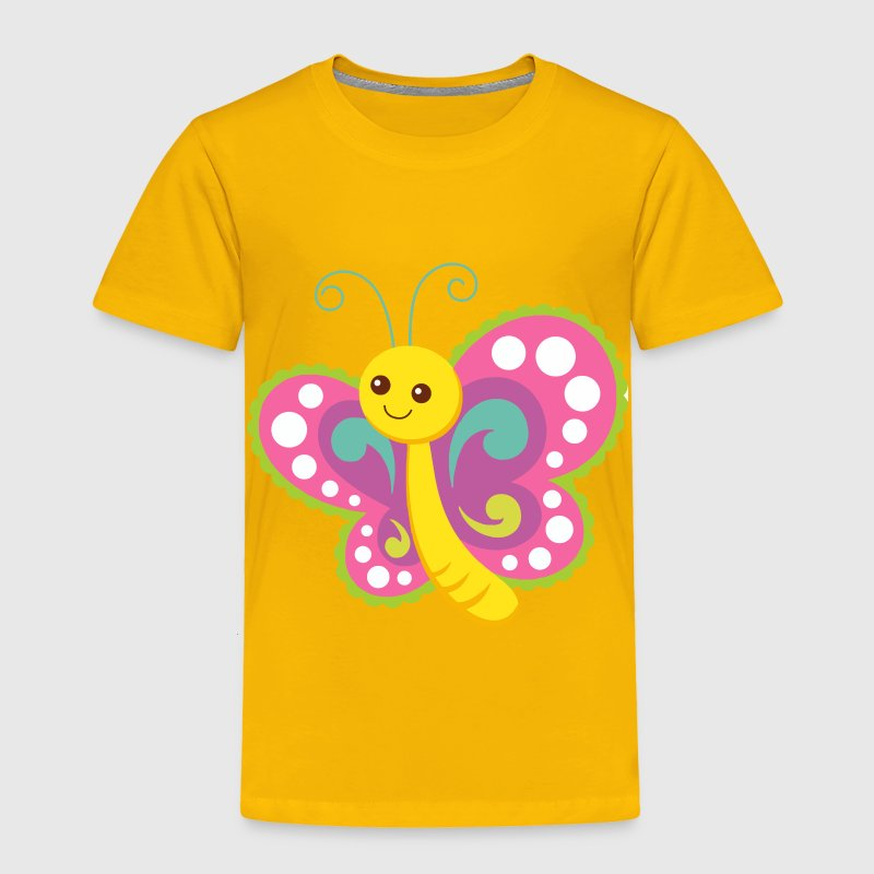 Cute Cartoon Butterfly - Toddler Premium T-Shirt
