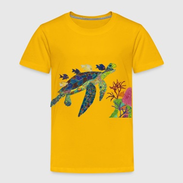 Happy Rainbow Turtle - Toddler Premium T-Shirt