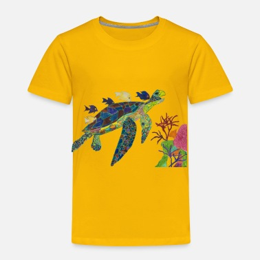 Color Happy Rainbow Turtle - Toddler Premium T-Shirt