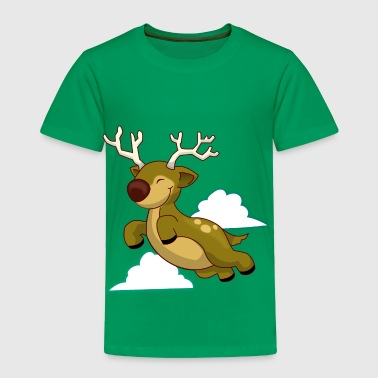 Flying Reindeer - Toddler Premium T-Shirt