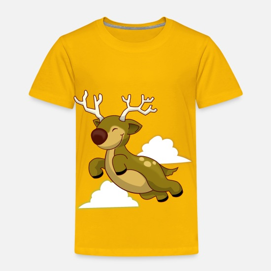 Babyproducts Baby Clothing - Flying Reindeer - Toddler Premium T-Shirt sun yellow