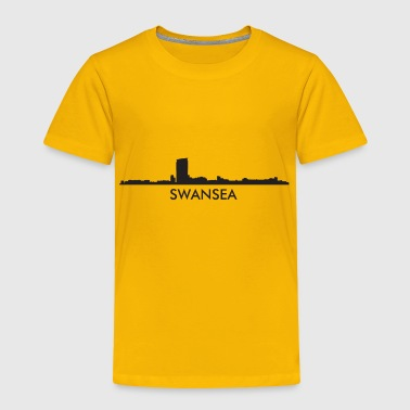 Swansea Wales Skyline - Toddler Premium T-Shirt