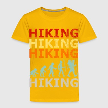 Retro Vintage Style Evolution Hiking Hike Wander - Toddler Premium T-Shirt