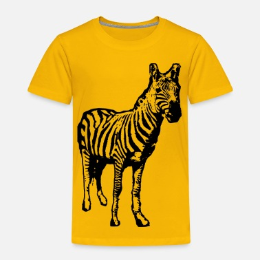Safari Zebra Facing Us - Toddler Premium T-Shirt