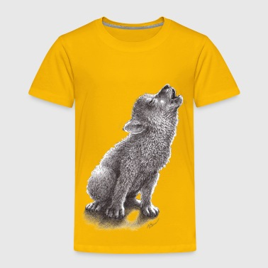 Coyote Little Howling Wolf - Toddler Premium T-Shirt