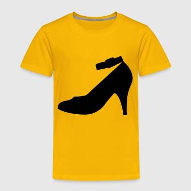 Vector highheels Silhouette - Toddler Premium T-Shirt