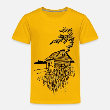 Plain Cabin On The Plains - Toddler Premium T-Shirt