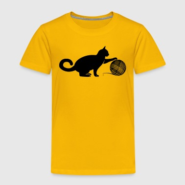 Cat play the Wool - Toddler Premium T-Shirt