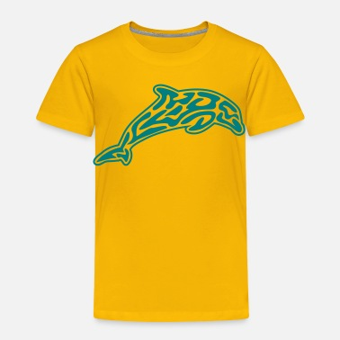Tribal Animal animals: tribal-dolphin - Toddler Premium T-Shirt