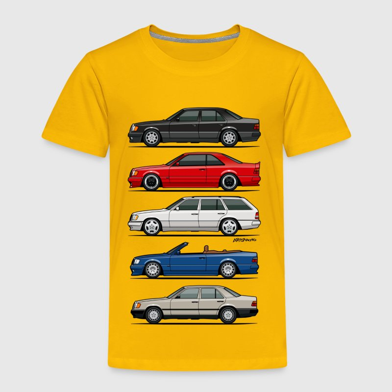 Stack of Mercedes W124 E-Class - Toddler Premium T-Shirt