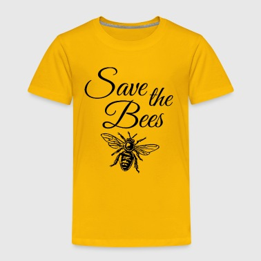 Save the Bees ( one color) - Toddler Premium T-Shirt