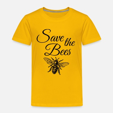 Color Save the Bees ( one color) - Toddler Premium T-Shirt