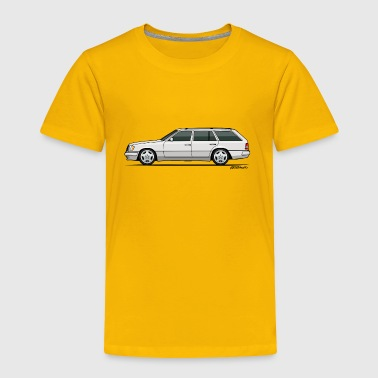 Mercedes W124 300TE Wagon (White) - Toddler Premium T-Shirt