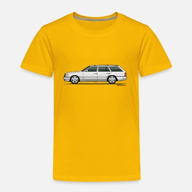 Monkey Crisis On Mars Mercedes W124 300TE Wagon (White) - Toddler Premium T-Shirt